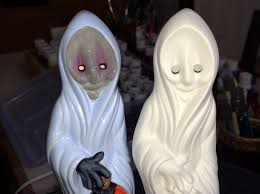 halloween ceramic molds halloween scary ghost dude holding a pumpkin ready to paint slip