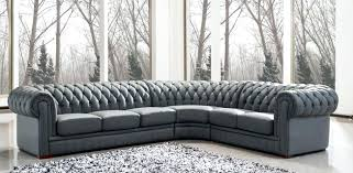 Grey Leather Tufted Sofa Cool Grey Tufted Vrogue Design