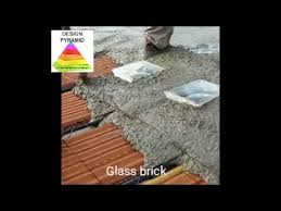 glass brick ceiling fixing in roof for lights