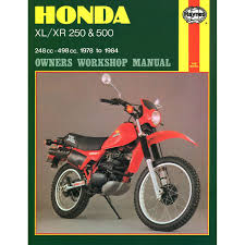 manual haynes for 1981 honda xl 250 sb