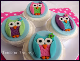 owl cake toppers owl cupcake toppers