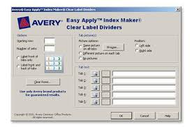 avery index maker easy apply clear label dividers with white tabs