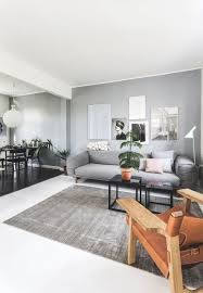 in this nordic living room the floor and ceiling are painted white