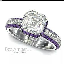 Purple Wedding Rings by 31 Best Engagement Wedding Rings Images On Pinterest Princess