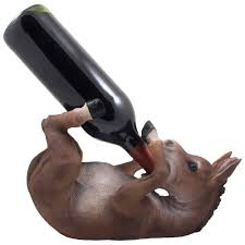 drinking donkey wine bottle holder statue or decorative mule