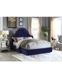 Velvet Bed Frame Great Deals On Meridian Navy Velvet Bed King Blue
