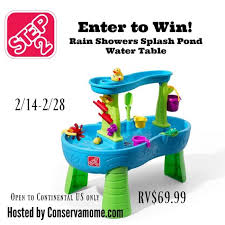 step 2 rain showers splash pond water table win step 2 rain showers water table us ends 2 28