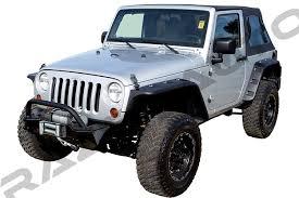 jeep fender flares jk amazon com razer auto 07 15 jeep wrangler jk smooth black stubby