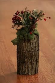 wood log vases rustic wood log vase by palletpalz on etsy wedding