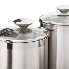 Kitchen Counter Canisters by Amazon Com Canister Set Stainless Steel Beautiful Canisters For