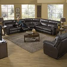 catnapper catalina leather reclining sectional steel hayneedle