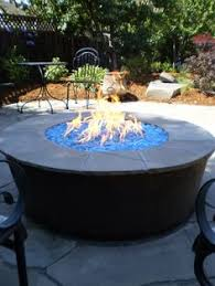 Fire Glass Pits by Fire Pit Glass Installation In Rectangular Outdoor Fire Pit Diy