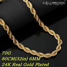 big rope necklace images 2018 2015 fasion 24k real gold plated long rope chain necklace big jpg