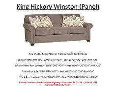 King Hickory Sofa Price King Hickory Henson Sofa English Arm Turned Leg You Choose The