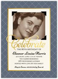 vintage photo birthday party invitation 80th birthday invitations