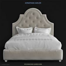 jonathan adler woodhouse queen bed 3d model cgstudio