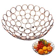 amazon com classical bronze fruit bowl large decorative copper