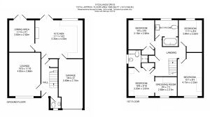 House Floor Plan With Measurements by 4 Bedroom Detached House For Sale In 1 Foxlands Drive Upper