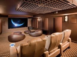 futuristic home theater room design with lighting ideas design