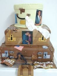 White Chocolate Covered Photo Bloguez Luggage Cake This Is A Wedding Luggage Cake Of My Special