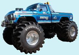bigfoot original monster truck peel stick