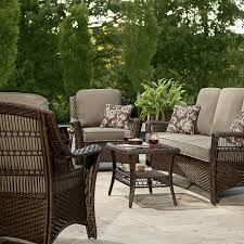 Sears Patio Furniture Cushions Patio Lowes Allen Roth Outdoor Cushions Wrought Iron Table And