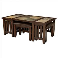 Coffee Table With Stools Underneath Coffee Table Round Glass Coffee Table With Stools Underneath