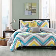 Twin Xl Grey Comforter Design Elise Chevron Blue U0026 Grey Twin Twin Xl Comforter Set