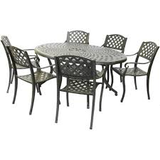 Cast Aluminium Outdoor Furniture by Buy Royalcraft Eclipse Oval 6 Seater Cast Aluminium Furniture Set