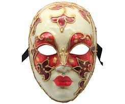 authentic venetian masks and white authentic venetian mask