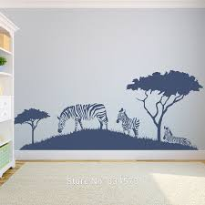 online get cheap african wall art decals aliexpress com alibaba african zebra safari zoo tree animal wall art sticker decal home diy decoration wall mural removable