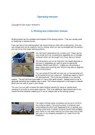 wicking bed garden operating manuals for drought gardening