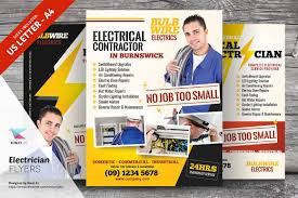 fliers templates electrician flyer templates flyer templates creative market