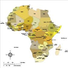 africa map color editable africa map with countries safari color illustrator