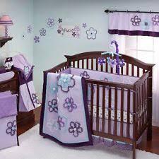 Purple Crib Bedding Set 9 Pc Pretty In Purple Crib Bedding Set By Nojo Ebay