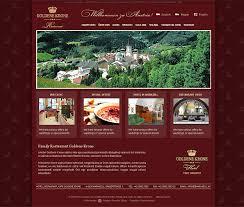 goldene krone restaurant austria website design and development