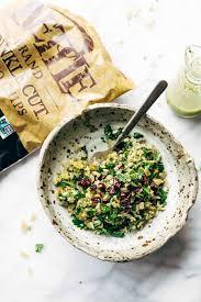 garlic kale and brown rice salad with lemon dressing recipe