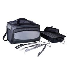 picnic time buccaneer portable charcoal grill and cooler tote in
