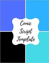 comic script template blank empty cartoon strips 8 5 x 11 in 100