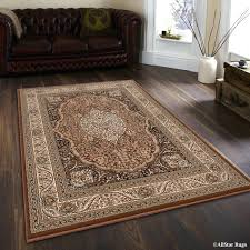 Area Rug Vancouver High End Area Rugs High End Ultra Dense Floral Brown Area Rug
