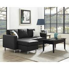 Comfortable Chairs For Small Spaces Dorel Living Small Spaces Configurable Sectional Sofa Black