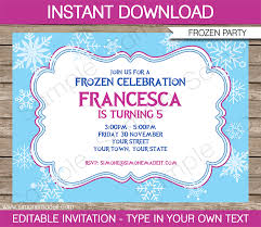 frozen invitation template diy editable frozen invitations