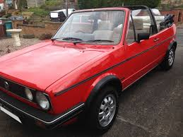 vw golf mk1 cabriolet convertible 1985 1 6 gl manual not gti