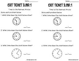 telling time to the nearest minute math tasks and exit tickets tpt