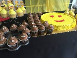 emoji party ideas publix cookie cake and cup cakes party city