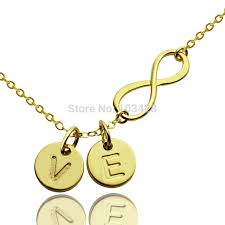 initials jewelry gold color infinity name necklace personalized infinity necklace 2