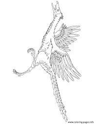 archaeopteryx dinosaur coloring pages printable