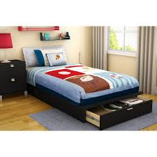 Kids Beds With Storage Drawers Bedroom Twin Platform Bed Frame With Bookcase Headboard And