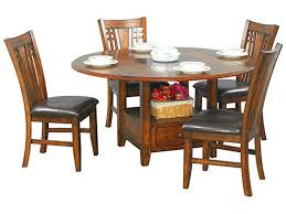 winners only dining room table 42sq 60rd w lazy susan zahara