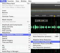 tutorial removing pops and clicks and background noise in adobe